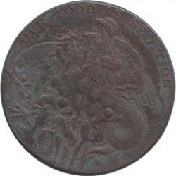 イギリス ウォリックシャー バーミンガム 1ペニー銅貨(トークン) 1791 極美品