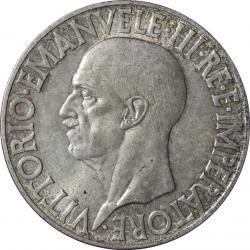 イタリア王国 20リレ銀貨 1936(R) ヴィットリオ・エマヌエル3世(1900-1946)  トーン・極美品