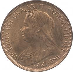 イギリス 1/2ペニー銅貨 1901 ヴィクトリア(1837-1901)