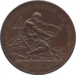 フランス 2ソル銅貨 1792 Essai du Monneron Pyramide Proof UNC