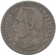 France 50Centimes 1868(BB)