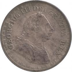 イギリス 3シリング銀貨 バンクトークン 1811 ジョージ3世(1760-1820) トーン・極美品+