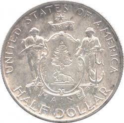 アメリカ 1/2ドル銀貨 1920  メイン州100年記念  準未使用