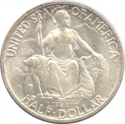アメリカ 1/2ドル銀貨 1935(B) カリフォルニア太平洋国際博覧会記念 未使用品