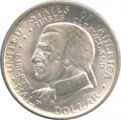 アメリカ 1/2ドル銀貨 1936  クリーブランド五大湖博覧会記念 未使用品
