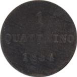 Italy Tuscany Quattrino 1854 Leopold II