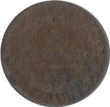 Italy Sardinia 3Centesimi 1826(L) Carlo Felice