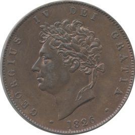 Great Britain Harf Penny 1825 George IV
