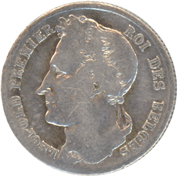 Belgium 1/2Franc 1840 Leopold Premier